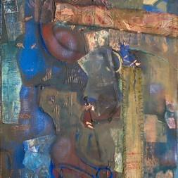 Argonauten-1,Ol,Acryl,Collage auf Lw.70x502006